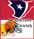 CLICK to PRINT Free Printable Party Invitations for Houston Texans Parties