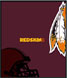 CLICK to PRINT Free Printable Party Invitations for Washington Redskins Parties