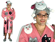 Crazy Cat Lady Halloween Costumes  sc 1 th 175 & Crazy Cat Lady Adult Male Humorous Animals Halloween Costume