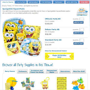 Shop for Spongebob