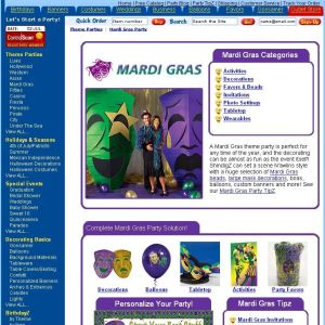 Shop for Mardi Gras
