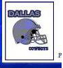 Dallas Cowboys Placename Cards
