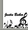 Justin Bieber Placename Cards