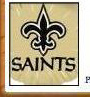 New Orleans Saints Placename Cards