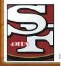 San Francisco 49ers Placename Cards